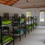 Dormitorio del albergue A Fábrica da Luz Parada de Sil